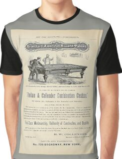Antique 1874 Billiard Tables ad Graphic T-Shirt
