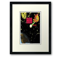 Bird of Steel Comix - Page #2-8 (Red Bubble POP-ART COLLECTION SERIES) Framed Print