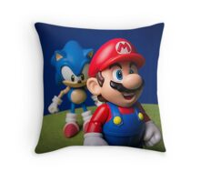 ...But Mario... Throw Pillow