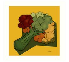 Broccoli A Little Different Art Print