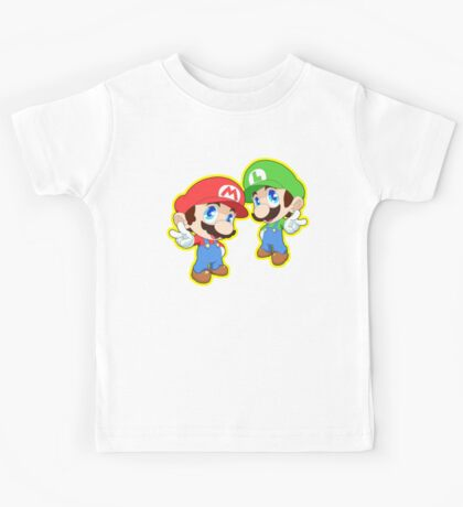 Super Smash Bros. Mario and Luigi! Kids Tee