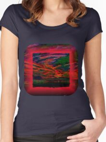 Technicolor Sunset 2 Women's Fitted Scoop T-Shirt