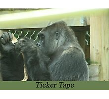 Ticker Tape Photographic Print