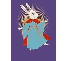 Saint Bunny has your back Photographic Print