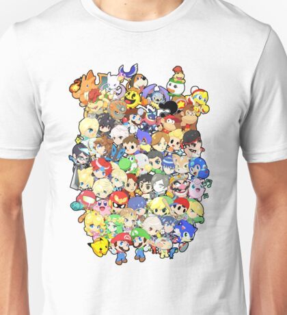 Super Smash Bros. All 58 Characters!! Group Unisex T-Shirt