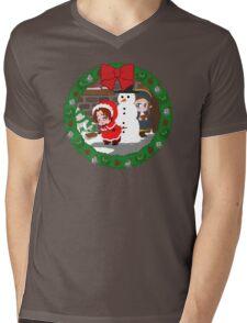 Christmas Chibitalia and Holy Rome Mens V-Neck T-Shirt