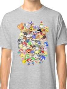 Super Smash Bros. All 58 Characters! Group Classic T-Shirt