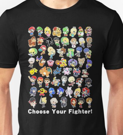 Super Smash Bros. All 58 Characters! Choose Your Fighter! Unisex T-Shirt