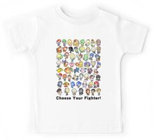 Super Smash Bros. All 58 Characters! Choose Your Fighter!! Kids Tee