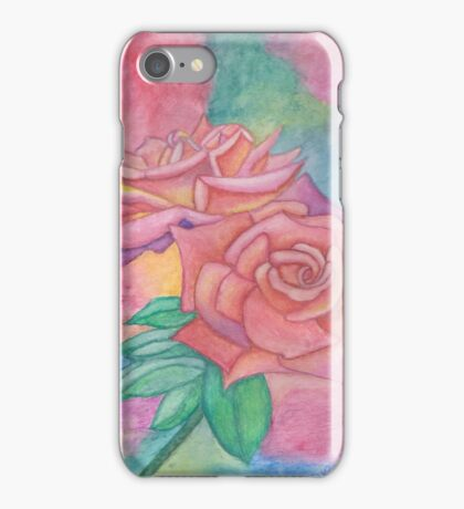 Pink & Mauve Roses iPhone Case/Skin