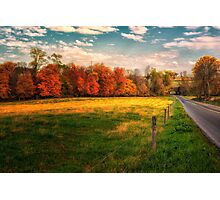 Autumn on the Country Road Photographic Print
