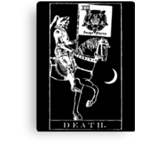 Death Tarot XIII Canvas Print