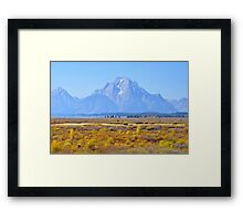 Autumn Tetons Framed Print