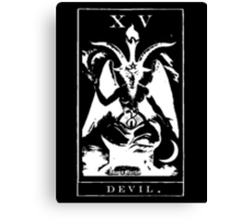 Devil Tarot XV Canvas Print