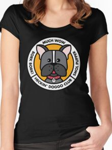 Heckin' Doggo Club, Wow Women's Fitted Scoop T-Shirt