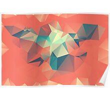 Autumn Polygon Poster