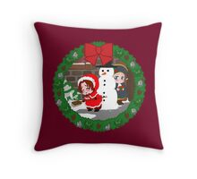 Christmas Chibitalia and Holy Rome Throw Pillow