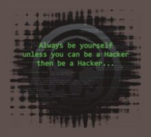 Hacker 1.0 - Geek Philosophy style skull - Software, coding and hacking designs  Baby Tee
