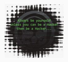 Hacker 1.0 - Geek Philosophy style skull - Software, coding and hacking designs  One Piece - Short Sleeve