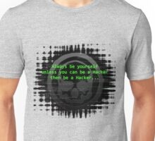Hacker 1.0 - Geek Philosophy style skull - Software, coding and hacking designs  Unisex T-Shirt