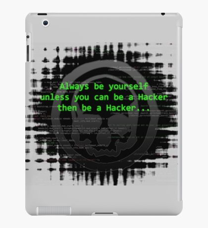 Hacker 1.0 - Geek Philosophy style skull - Software, coding and hacking designs  iPad Case/Skin