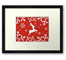 Snowy Reindeer Framed Print