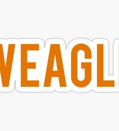 Weagle orange sticker - War eagle Sticker