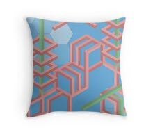 Hex grid  Throw Pillow