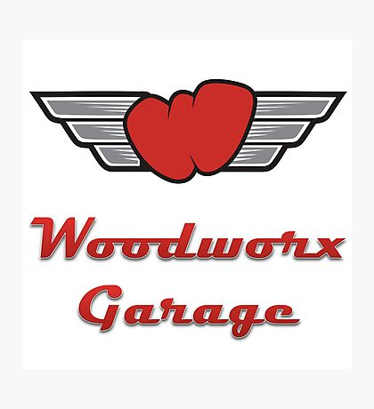 Woodworx Garage Photographic Print