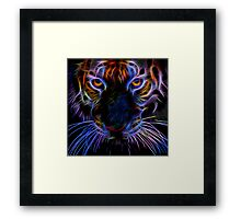 fairy neon tiger Framed Print