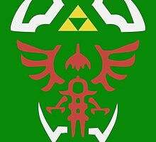 Zelda Triforce/Hylian Shield Design 2 by brokenumbrella