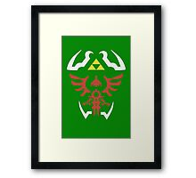 Zelda Triforce/Hylian Shield Design 2 Framed Print