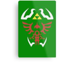 Zelda Triforce/Hylian Shield Design 2 Metal Print