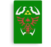 Zelda Triforce/Hylian Shield Design 2 Canvas Print