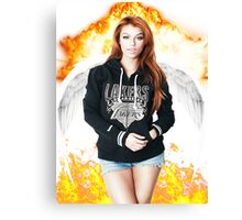 Random Model with Wings and fire Canvas Print