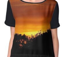 Sunset in Cornwall Chiffon Top