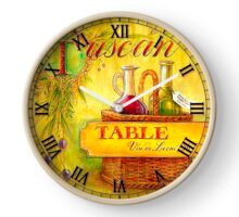 028 Wall Clock Table with wine bottles Clock