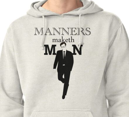 Manners Maketh Man Pullover Hoodie