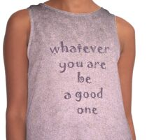Be a good one by Nikki Ellina Contrast Tank