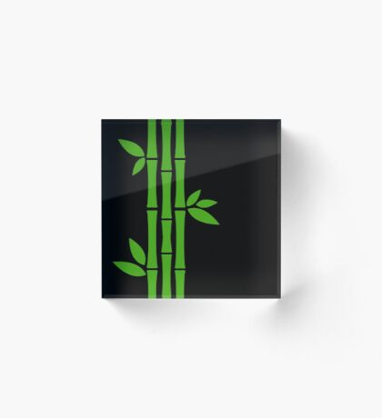 Night Bamboos Acrylic Block