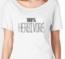 "Vegan Shirt - ""100% Herbivore"" - Vegan Diet Women's Relaxed Fit T-Shirt"