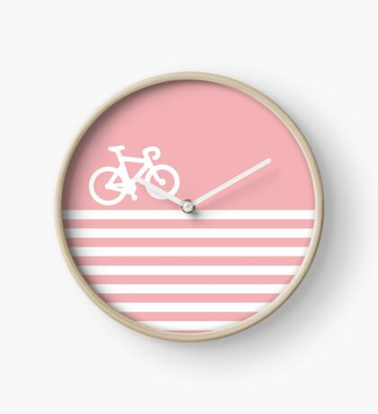 Baby Pink Bike with Stripes Clock