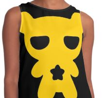 Lazy Bear Yellow Attention Contrast Tank