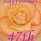 Happy 47th Birthday Flower by martinspixs