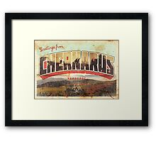 Greetings from Chernarus - INFECTED Framed Print