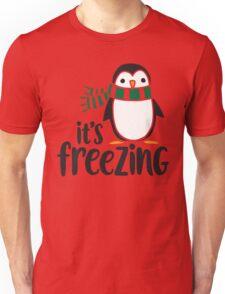 I'm Freezing - Penguin Unisex T-Shirt