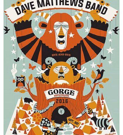 Dave Matthews Band, Tour 2016, The Gorge Amphitheatre George WA Sticker