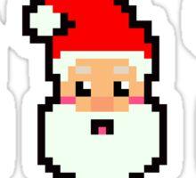 8-bit Triple Santa Sticker