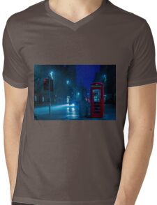 Telephone Cabin, Edinburgh Mens V-Neck T-Shirt