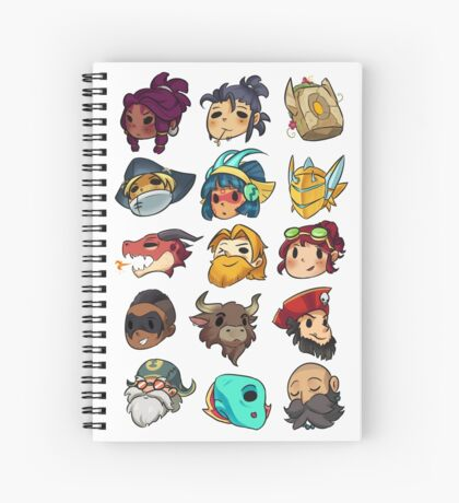 Brawlhalla Legends Set 1 of 2 Spiral Notebook